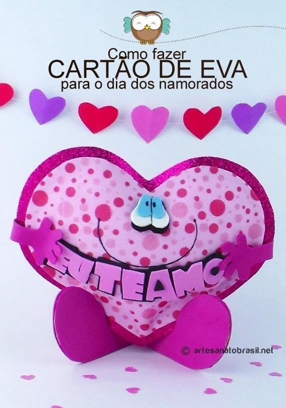 """Coração de EVA """"Eu te Amo"""" para Dia dos namorados"""