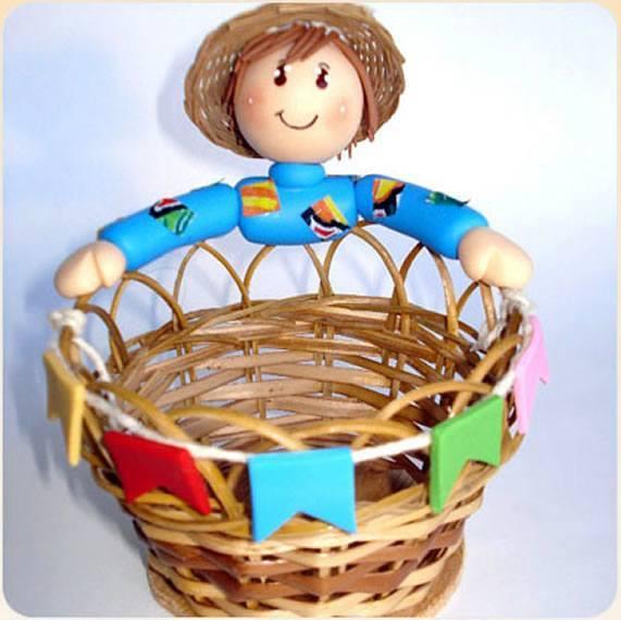 Boneco de biscuit para lembrancinha de festa junina