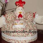 galinha-tecido-bolo