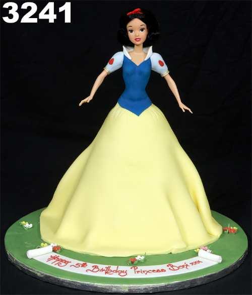 bolo branca neve