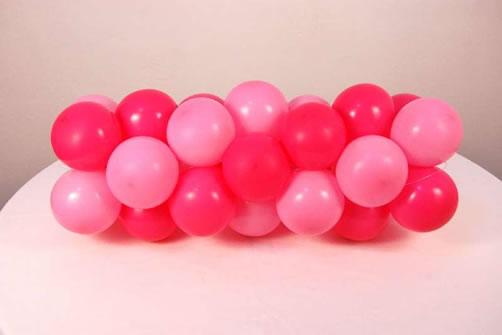 guirlanda de balões espiral