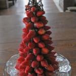 arvore natal morangos