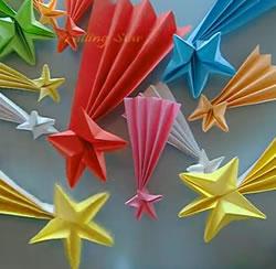 estrelas natal origami