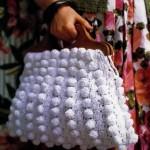 bolsa branca croche
