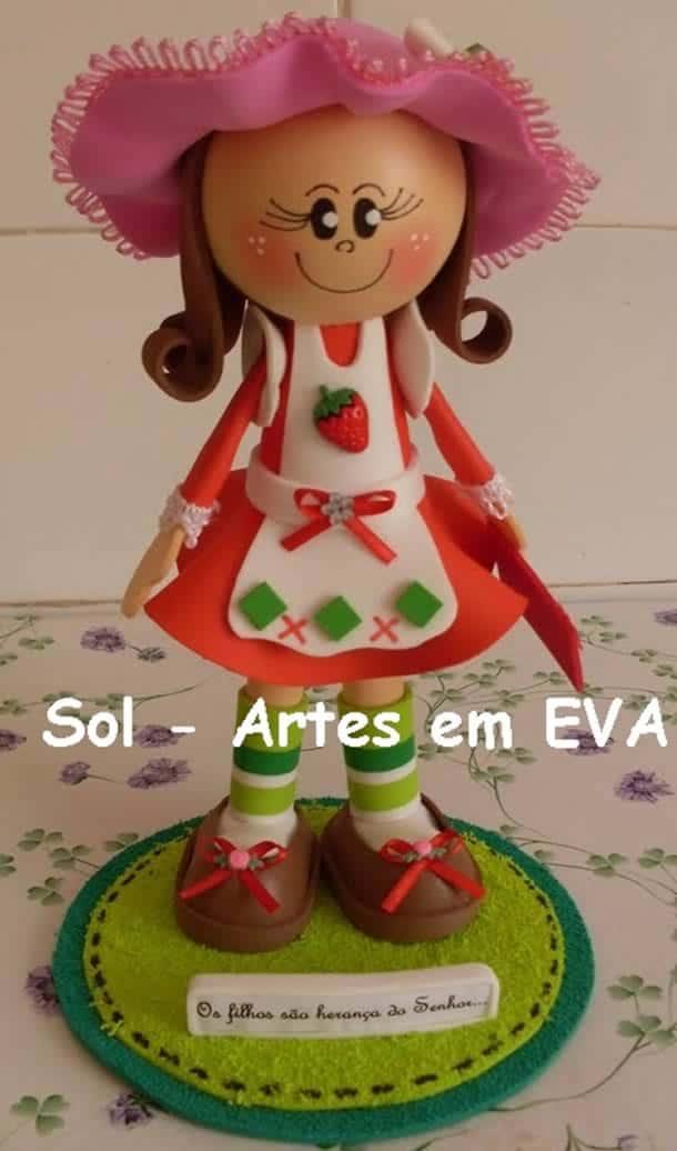 bonecas-moranguinho-fofucha-eva