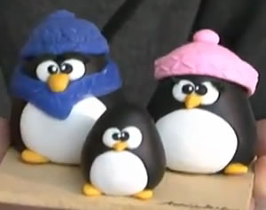pinguins de biscuit