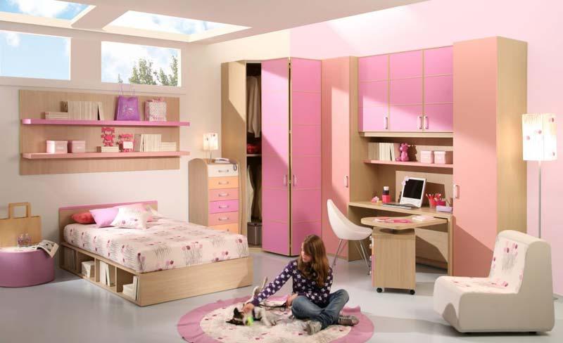 Modelos quartos para meninas rosa