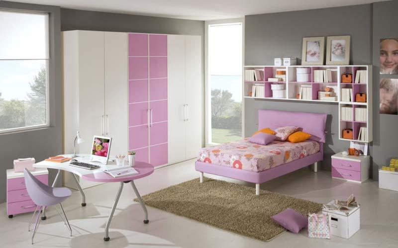 Quarto decorado para menina, cor lilaz