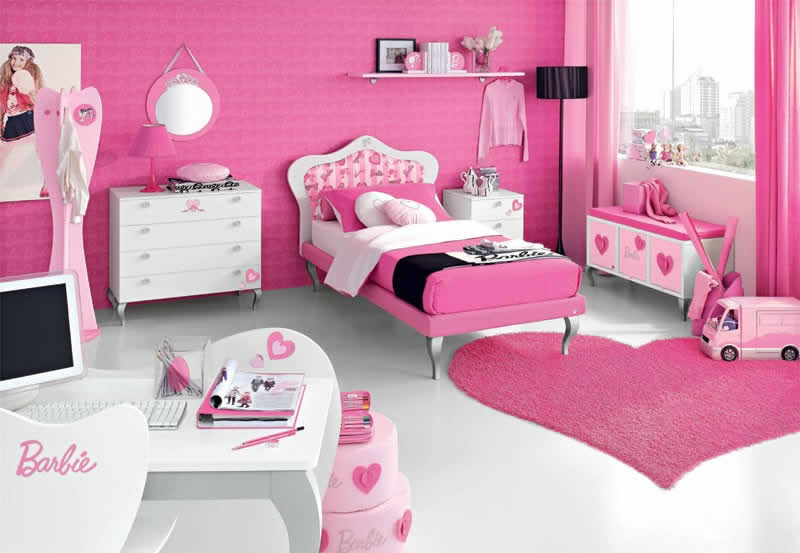 Quarto decorado da Barbie