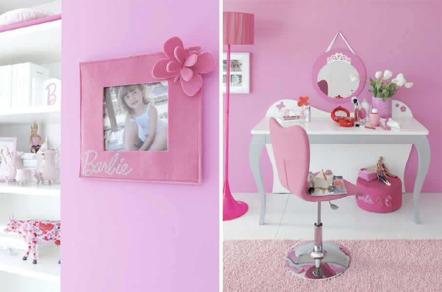 Quartos da Barbie com estúdio de maquiagem