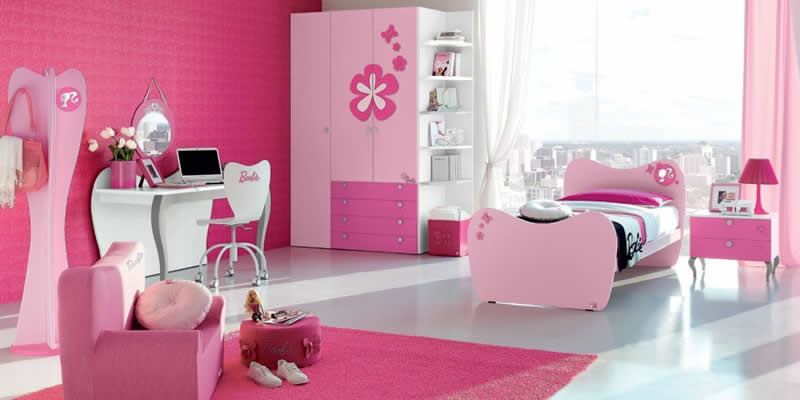 Quarto da princesa Barbie decorado