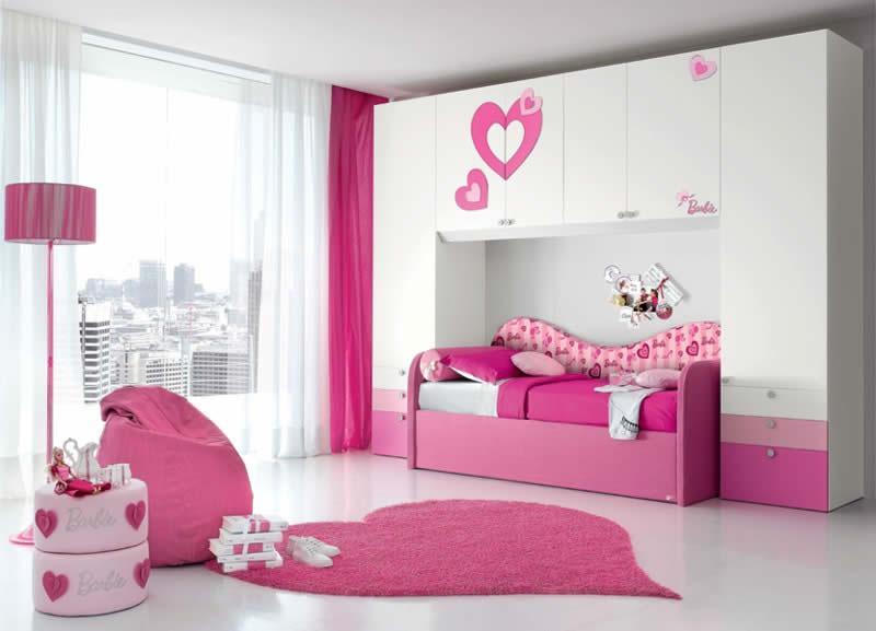 Quarto da Barbie grande, branco e rosa