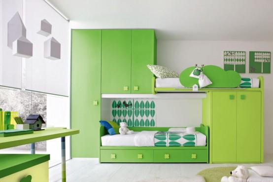 Quartos decorados de verde