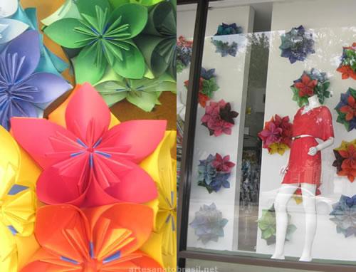 Flor em 3D de origami