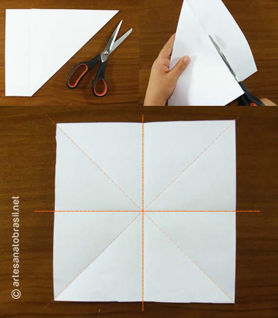 1. Balãozinho de papel passo a passo