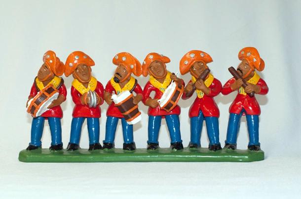 Banda de musicos em ceramica