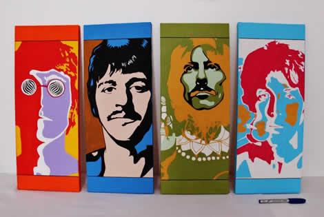 Rostos dos Beatles