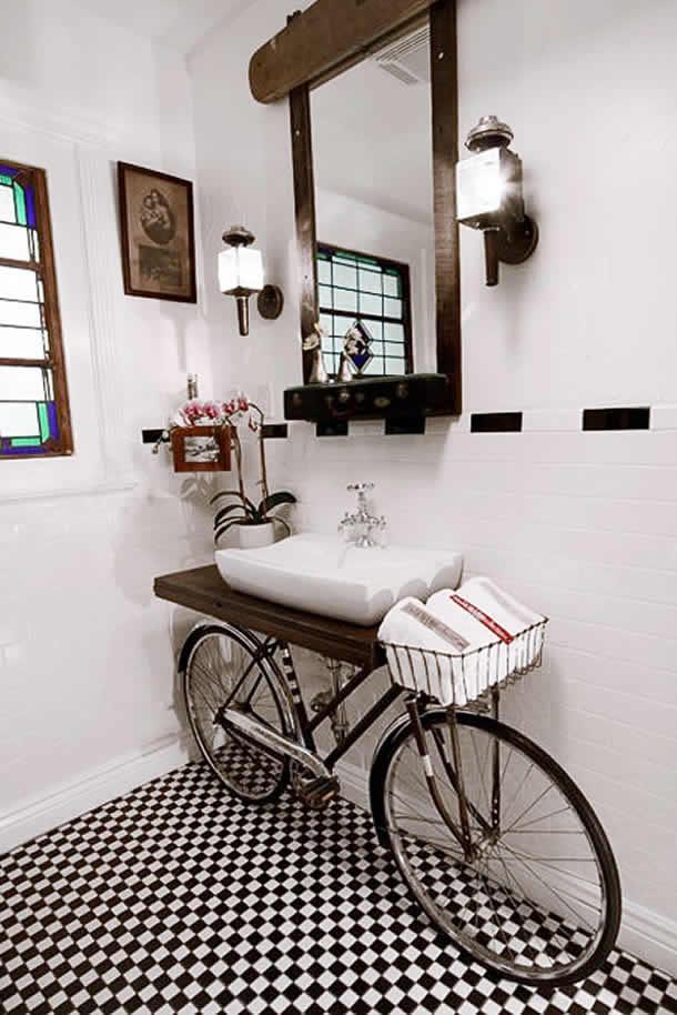 Pia com bicicletas (Artesanato com Reciclagem)