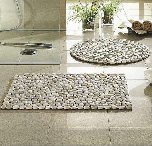 Tapetes feitos com pedras (Artesanato com Reciclagem)