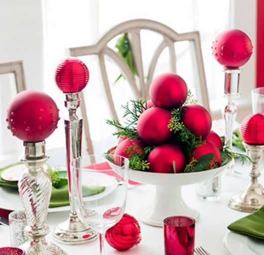 Centro de mesa para decoração de Natal