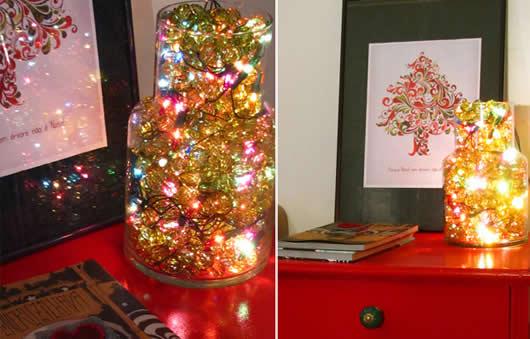 Iluminação com lampadas de Natal