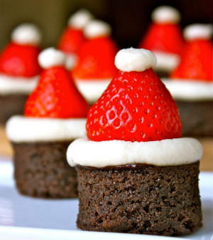 Brownie papai noel