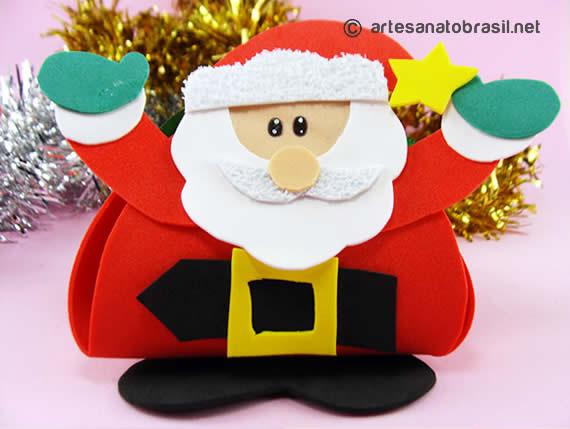 Lembrancinha Papai Noel em Eva
