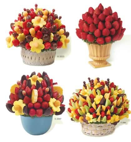 como fazer buque de frutas