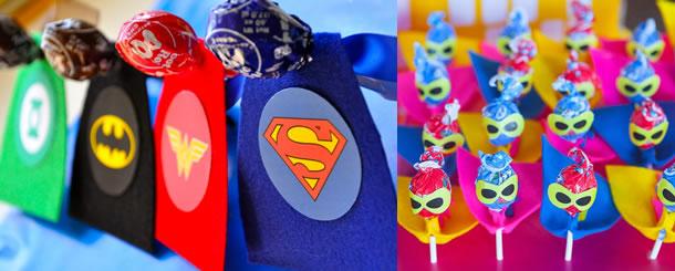 lembrancinha-com-pirulito-super-herois-feltro