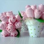 vasinhos de flores de tecido