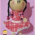 boneca fofucha EVA caipira