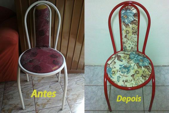 Como reformar cadeira de ferro com estofado