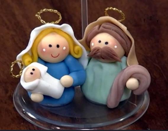 Lembrancinha de natal presepio de biscuit