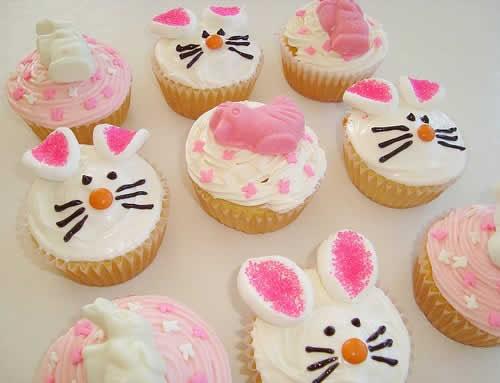 Cupcakes de coelhos de Páscoa