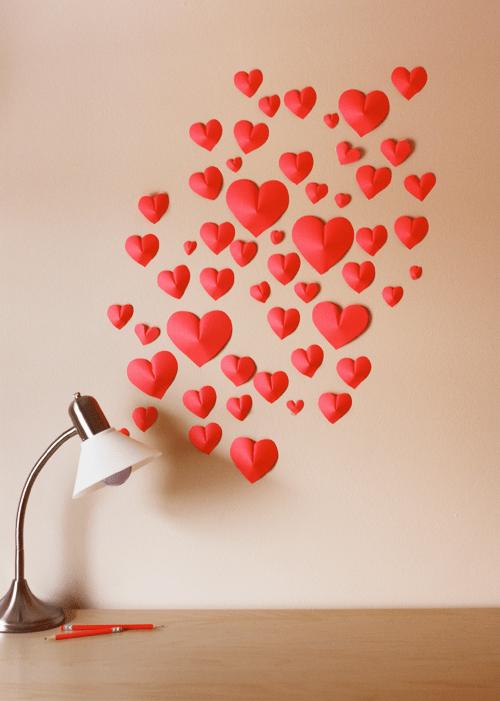 Como fazer coração 3D com papel passo a passo