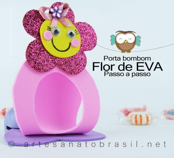 Porta-bombom-Flor-EVA