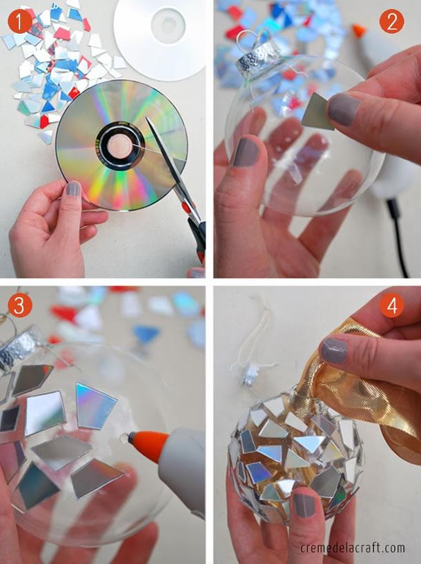 Bolas de Natal com CD