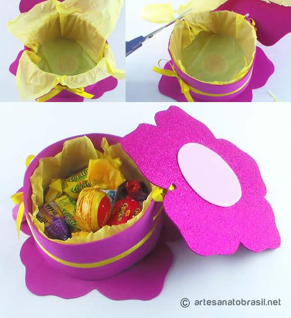 Artesanato com Cd: Caixa de Flor