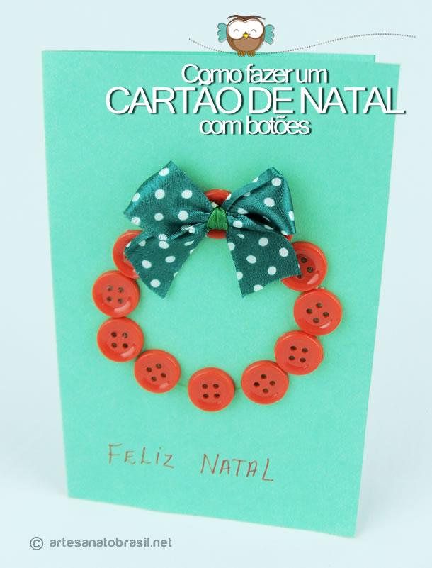 Cartão Natal Guirlanda com Batoes
