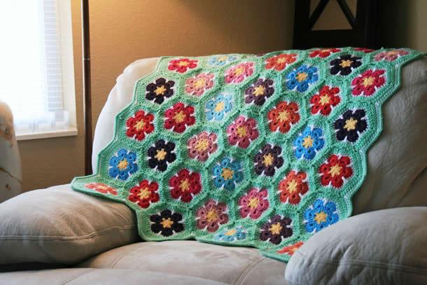 Tapete Flores (crochet)