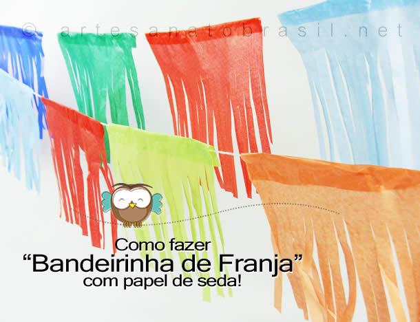 Bandeirinha de Franja com Papel de seda