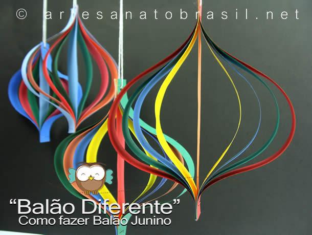 Decoração Festa com reciclados: Balões diferente de papel