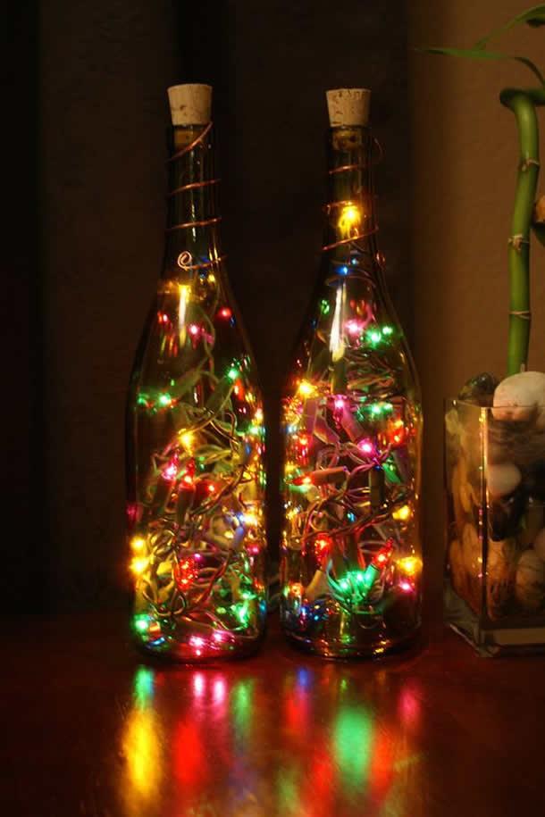 garrafas-de-vinho-com-pisca-pisca-luzes-coloridas