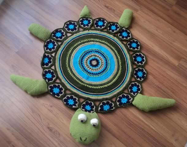 tapete-com-barbante-tartaruga-verde2