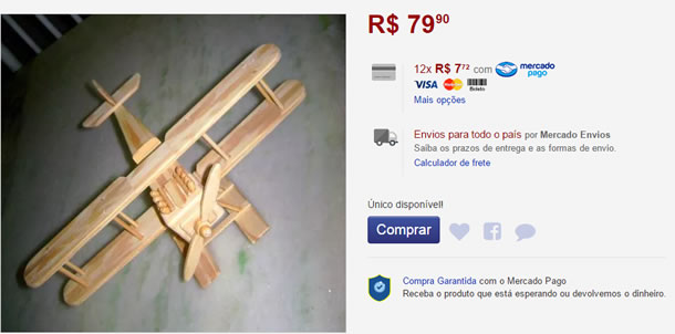 Artesanatos para Ganhar Dinheiro com Avião de Palitos de Picolé