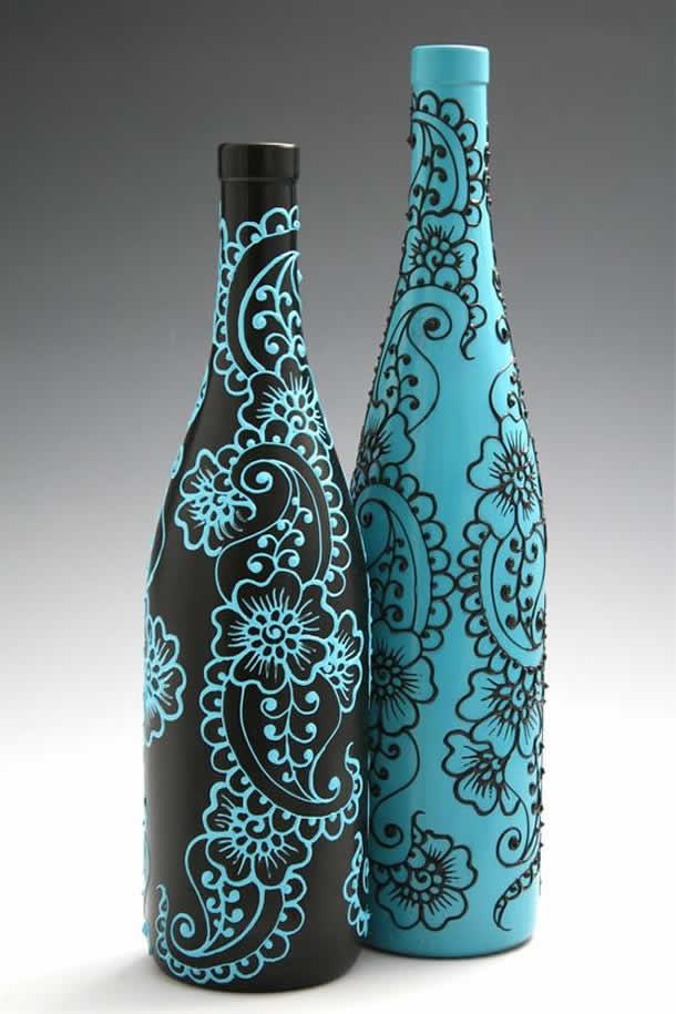 Garrafa Pintura de Henna