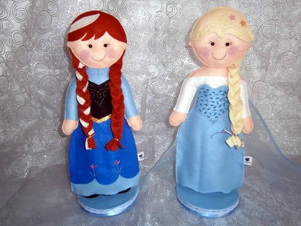 festa-frozen-bonecas-feltro
