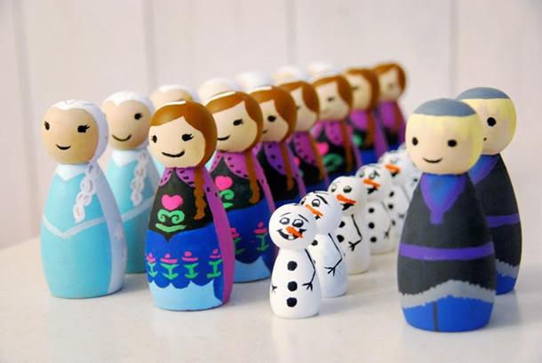 festa-frozen-boneco-madeira