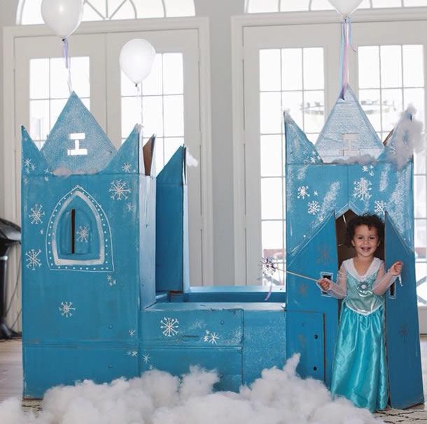 festa-frozen-castelo-papelao
