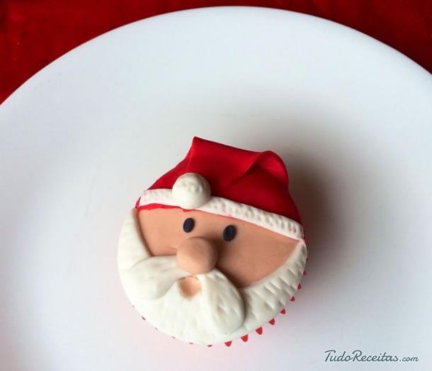 Cupcake de Natal do Papai Noel